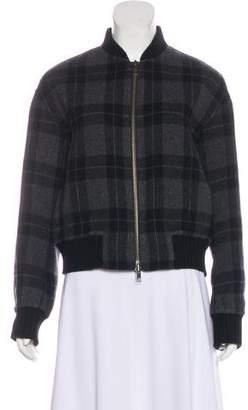 Vince Wool Plaid Jacket