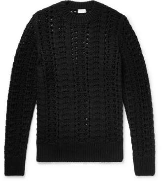 Dries Van Noten Slim-Fit Open-Knit Wool-Blend Sweater