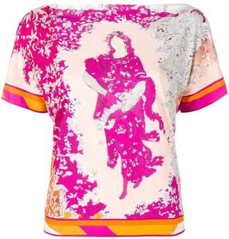 Emilio Pucci floral print shortsleeved blouse