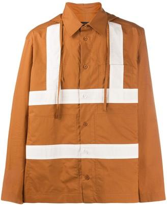 Craig Green stripe detail hooded shirt