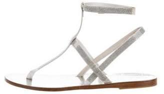 Pedro Garcia Metallic Leather Sandals