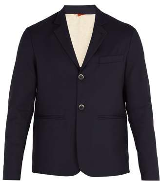 Barena Venezia - Single Breasted Twill Blazer - Mens - Navy