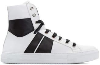 Amiri White and Black Sunset High-Top Sneakers