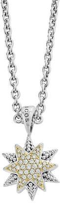 Lagos North Star Pendant Necklace with Diamonds
