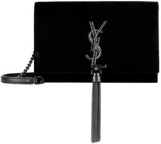 Saint Laurent Mini Velvet Kate Tassel Shoulder Bag