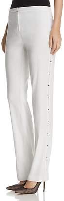 Elie Tahari Theora Embellished Straight-Leg Pants