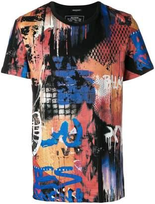 Balmain graffiti print T-shirt