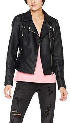 Only Women's Onlgemma Faux Leather Biker OTW Noos Jacket,X-Small (Manufacturer Size: )