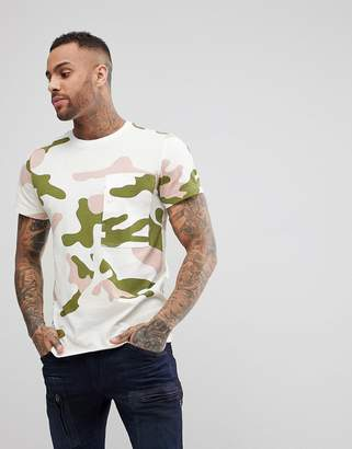 G Star G-Star Stalt Camo T-Shirt Large Pocket