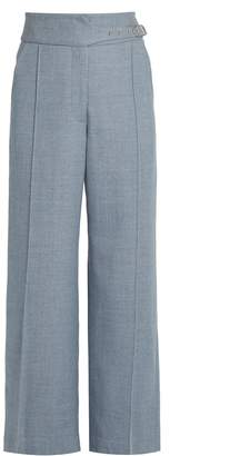 RACHEL COMEY Harlan high-rise wide-leg wool-twill trousers $495 thestylecure.com