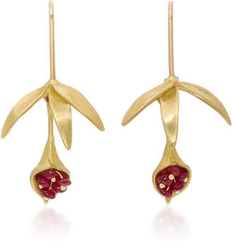 Annette Ferdinandsen 18K Gold Ruby Earrings $1,025 thestylecure.com