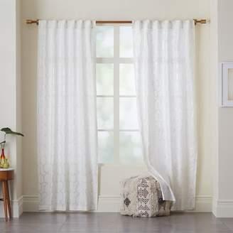 west elm Moorish Tile Printed Curtain
