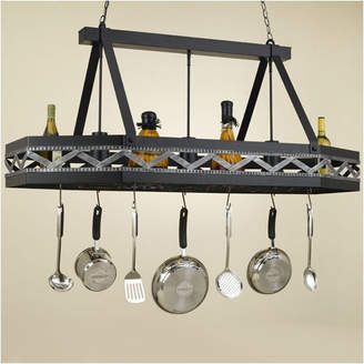 Hi-Lite Sonoma 8 Sided Hanging Pot Rack with 3 Lights