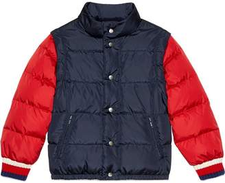 Gucci Kids Children's nylon jacket with logo