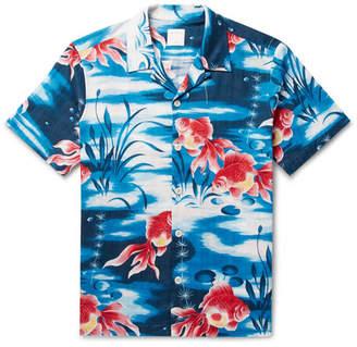 Sandro Camp-Collar Printed Cotton Shirt