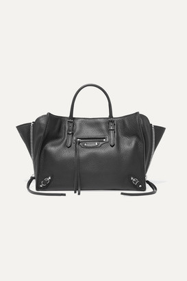 Balenciaga Papier A6 Small Textured-leather Tote - Black