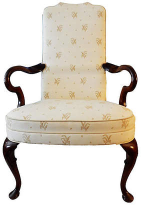 One Kings Lane Vintage English Queen Anne Armchair