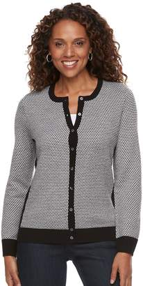 Croft & Barrow Women's Textured Extra Cozy Cardigan
