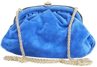 Sonia Rykiel Blue Suede Clutch Bag
