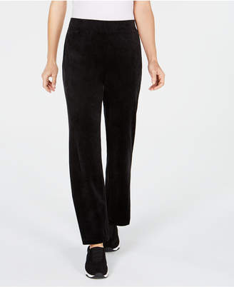 Karen Scott Petite Velour Pull-On Pants