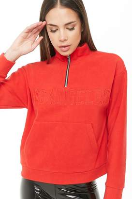 Forever 21 Los Angeles Graphic Fleece Pullover