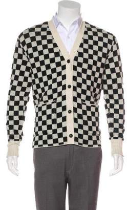 Amiri Cashmere Checkered Cardigan