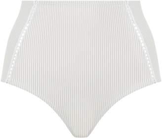 Jonathan Simkhai Seersucker Bikini Bottoms