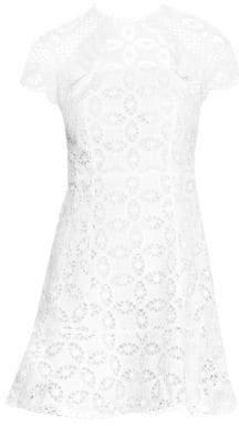 Sandro Women's Corentin Eyelet Lace Fit-&-Flare Dress - White - Size 34 (2)