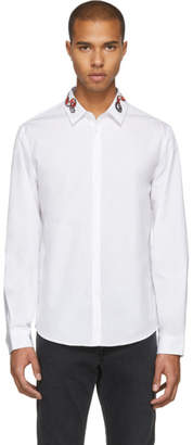 Gucci White Snake Collar Shirt