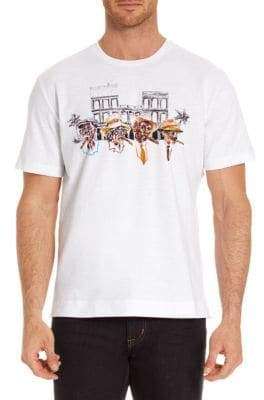 Robert Graham Graphic-Print Cotton Tee