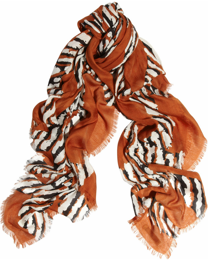 Burberry Shoes & Accessories Printed modal and cashmere-blend scarf