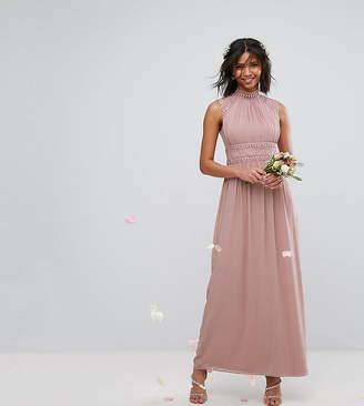 TFNC WEDDING High Neck Lace Detail Maxi Dress