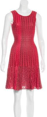 Alaia Fit and Flare Textured Dress