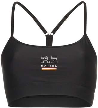 P.E Nation Training Day logo sports bra