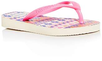 Havaianas Girls' Glitter Print Flip-Flops - Big Kid