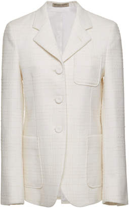 Bottega Veneta Wool-Blend Tweed Blazer