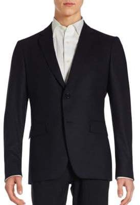 John Varvatos Solid Single-Breasted Long Sleeve Blazer