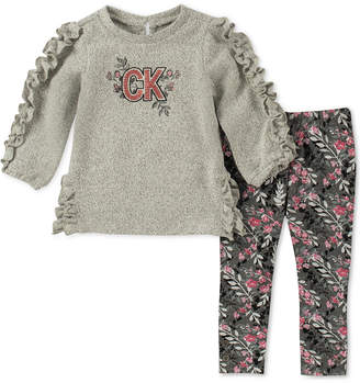 Calvin Klein Little Girls 2-Pc. Knit Tunic & Leggings Set