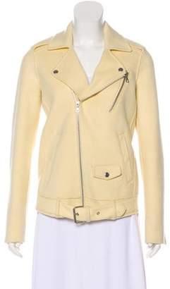 Theyskens' Theory Wool & Cashmere-Blend Moto Jacket