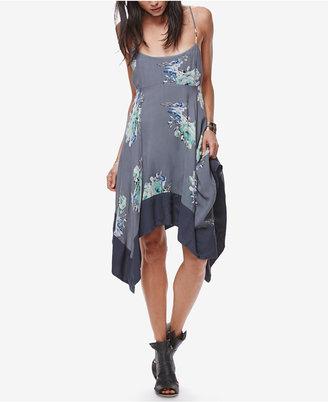 Free People Faded Bloom Asymmetrical Slip Dress $108 thestylecure.com