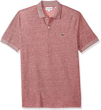 Lacoste Men's Short Sleeve Cotton/Linen Slim Polo