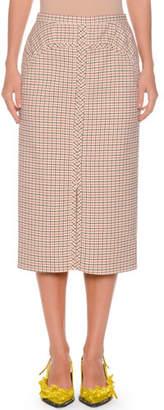 No.21 No. 21 A-Line Long Checkered Skirt