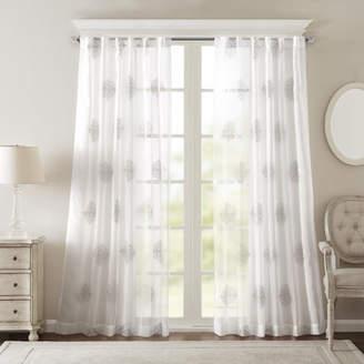 Langley Street Eliza Geometric Sheer Rod Pocket Single Curtain Panel