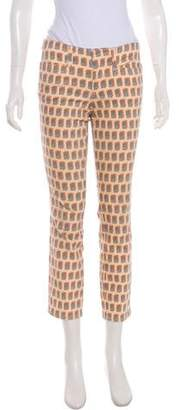 Tory Burch Patterned Low-Rise Jeans