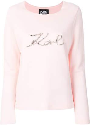Karl Lagerfeld embellished jumper