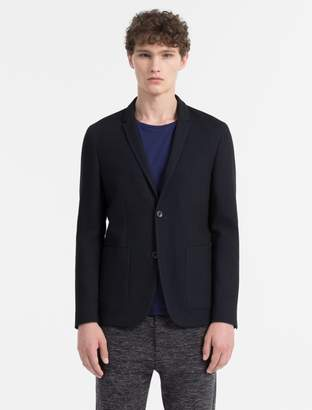 Calvin Klein slim fit knit 2-button blazer