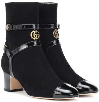 Gucci Geraldine suede ankle boots