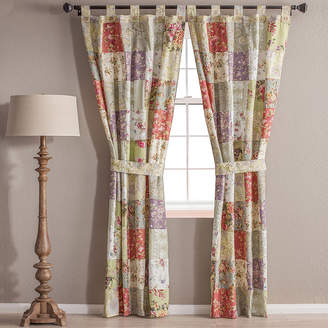 Greenland HOME FASHIONS Home Fashions Blooming Prairie 2-Pack Tab-Top Cotton Curtain Panels