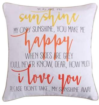 Lori Sunshine Happy Accent Pillow