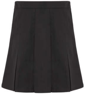 George Girls Black Pleated School Skirt